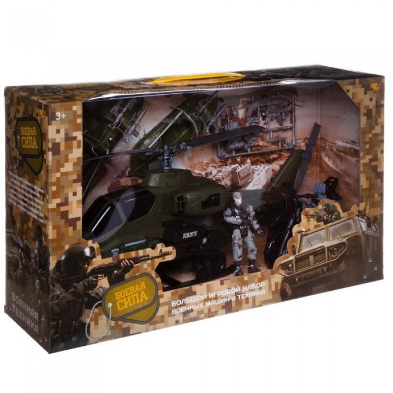 ABtoys Игровой набор Боевая сила Набор военной техники с фигуркой и аксессуарами