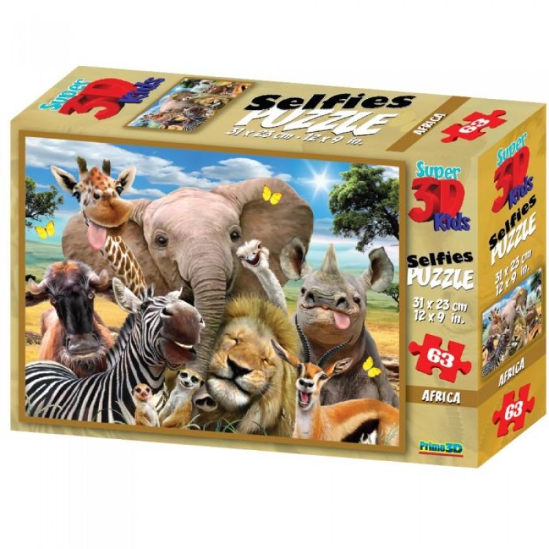 Prime 3D Стерео пазл Африка селфи 2