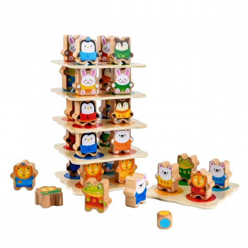 Деревянная игрушка Lucy & Leo Звериная башня
