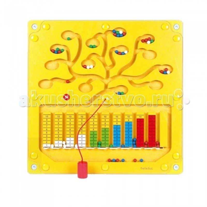 Деревянная игрушка Beleduc Настенный игровой элемент Числовое дерево