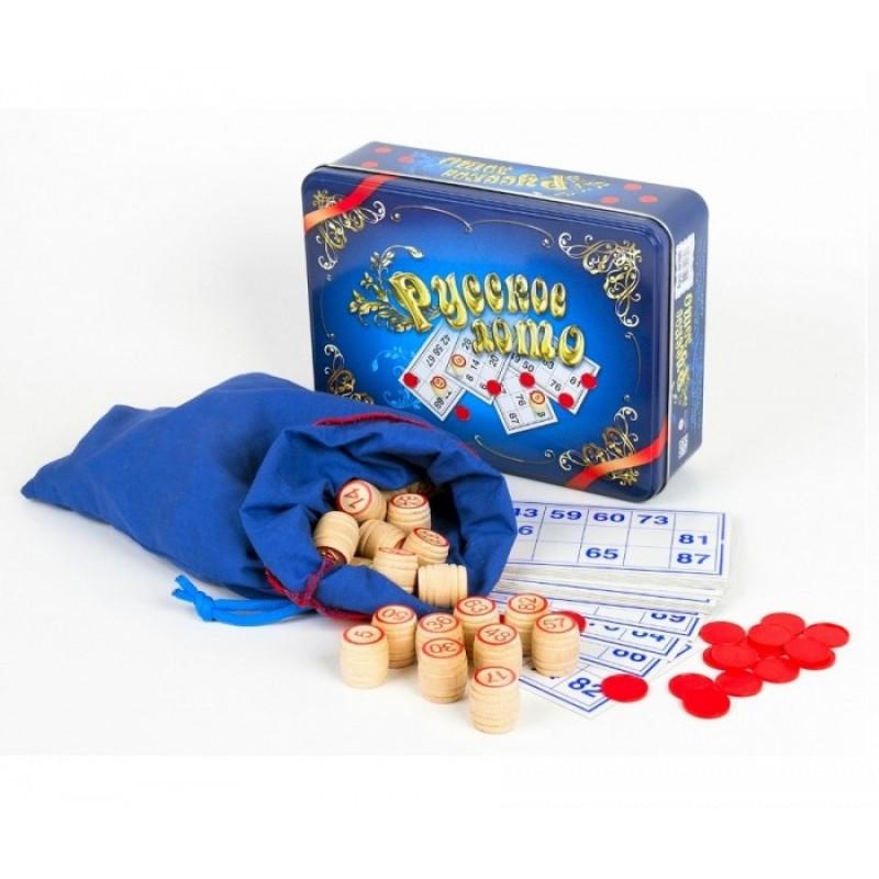 Десятое королевство Настольная игра Русское лото (синяя жестяная коробка)