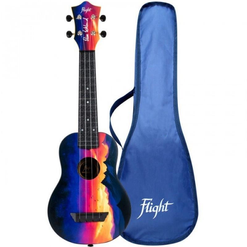 Музыкальный инструмент Flight Укулеле Travel Tus Ee Sunset