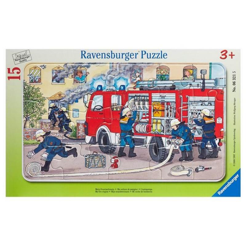 Ravensburger Пазл Пожарная машина 15 элементов