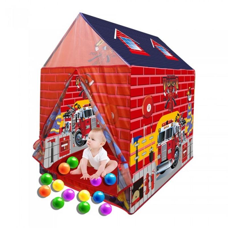 Pituso Дом Пожарная станция + 50 шаров