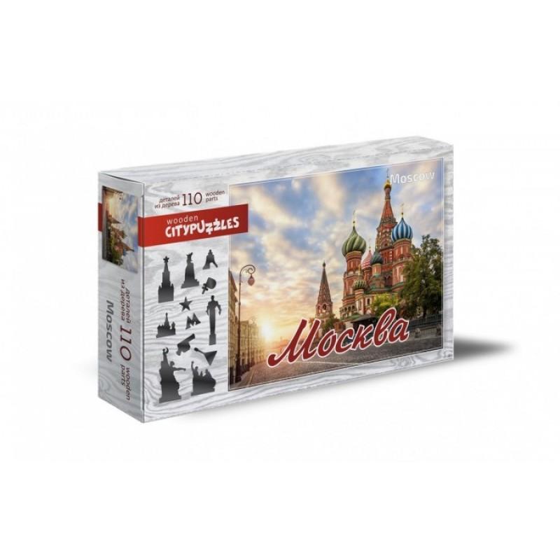 Деревянная игрушка Нескучные Игры Фигурный Москва (110 элементов)