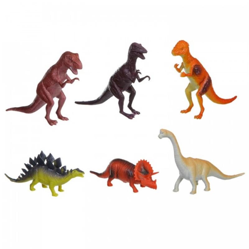 Bondibon Набор животных Ребятам о Зверятах Динозавры 8-10 дюймов 6 шт.
