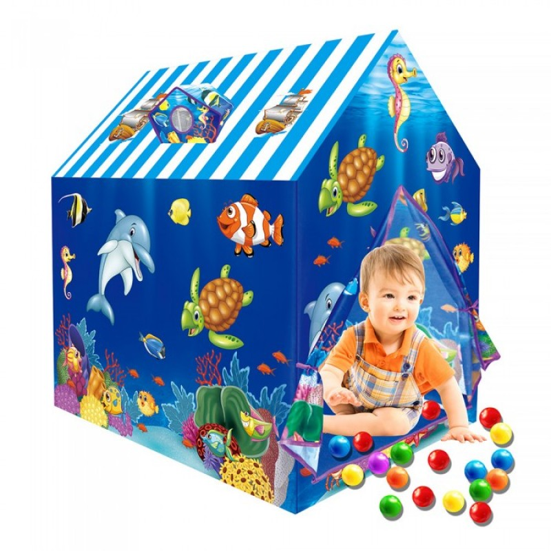 Pituso Дом Подводный мир + 50 шаров