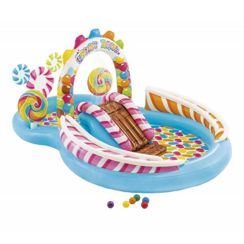 Intex Надувной игровой центр Фабрика конфет 295х191х130 см