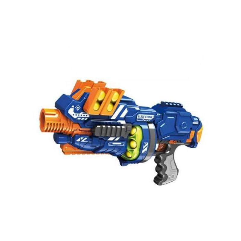 Junfa Бластер электромеханический с мягкими снарядами-шарами 12 штук