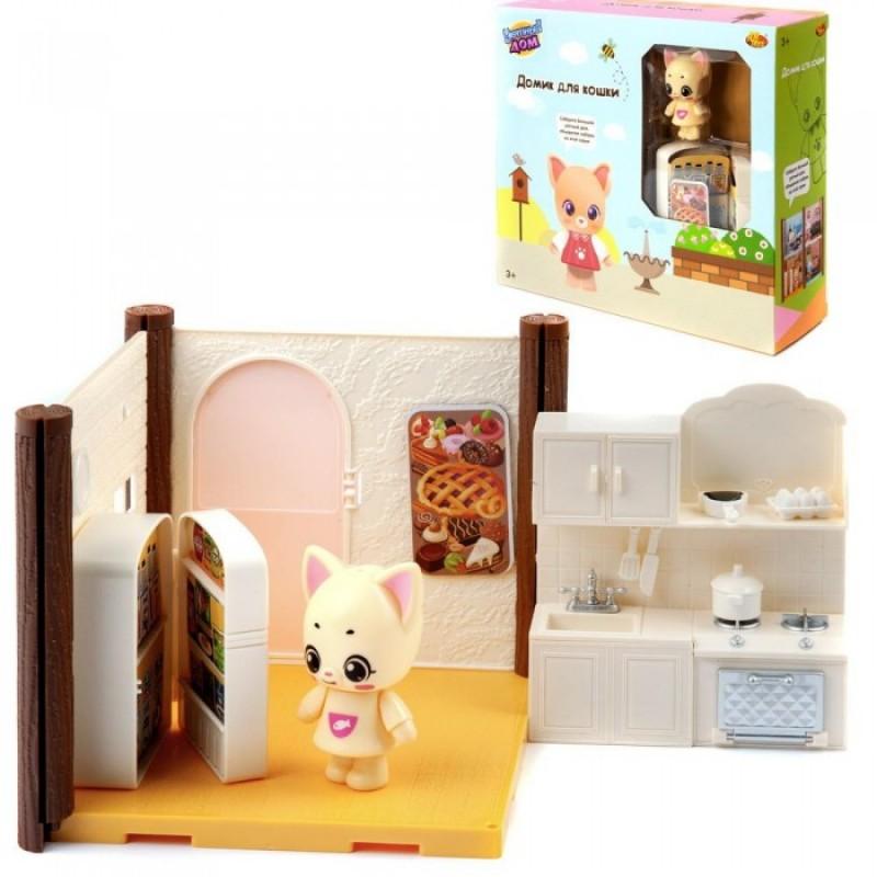ABtoys Игровой набор Уютный дом Домик для кошки Кухня
