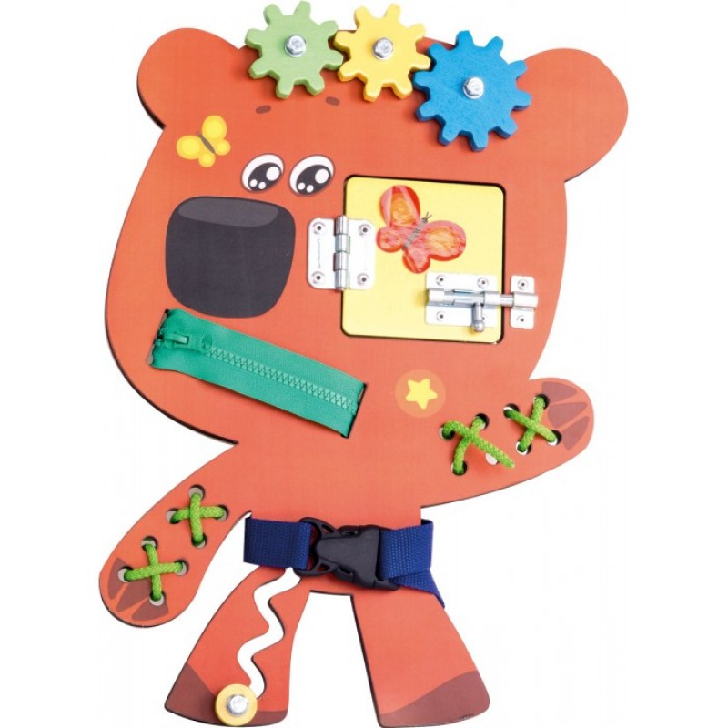 Деревянная игрушка Ми-ми-мишки Бизиборд Кеша