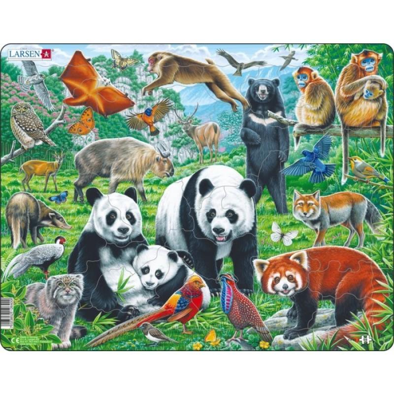 Larsen Пазл Дикие животные Азии