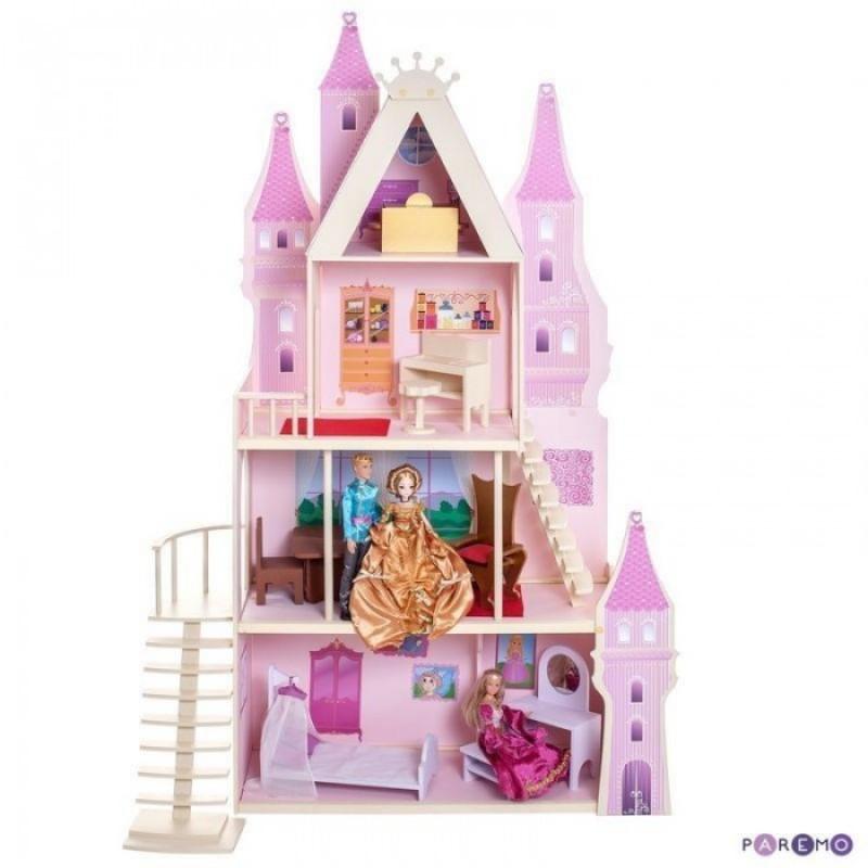 Paremo Деревянный кукольный домик Розовый сапфир с мебелью (16 предметов) PD316-05