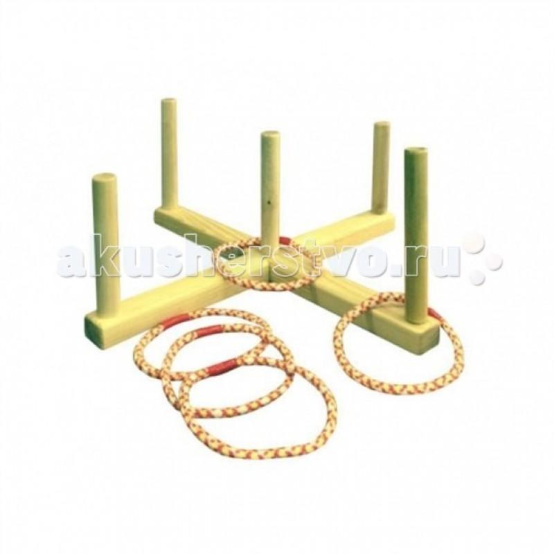 Деревянная игрушка Kidwood Кольцеброс деревянный с 5 кольцами