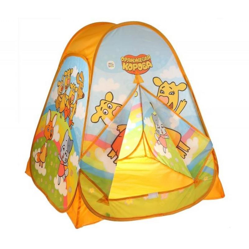 Играем вместе Палатка детская игровая Оранжевая корова