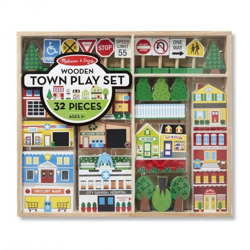 Деревянная игрушка Melissa & Doug Набор город