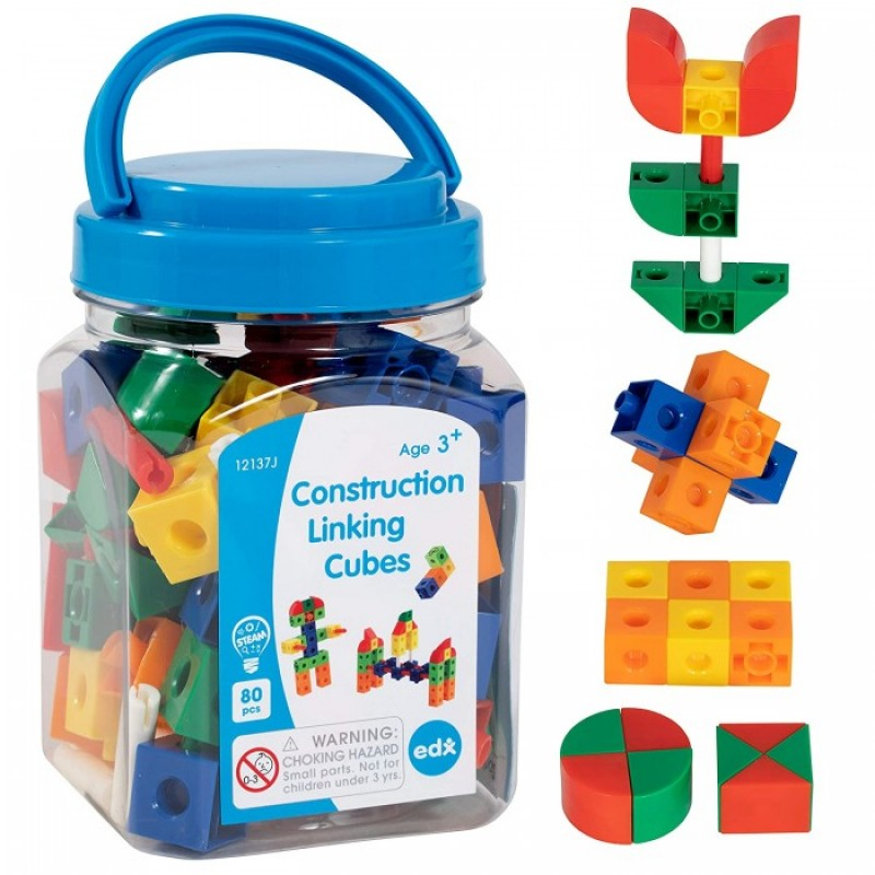Развивающая игрушка EDX Education Набор кубиков соединяющихся