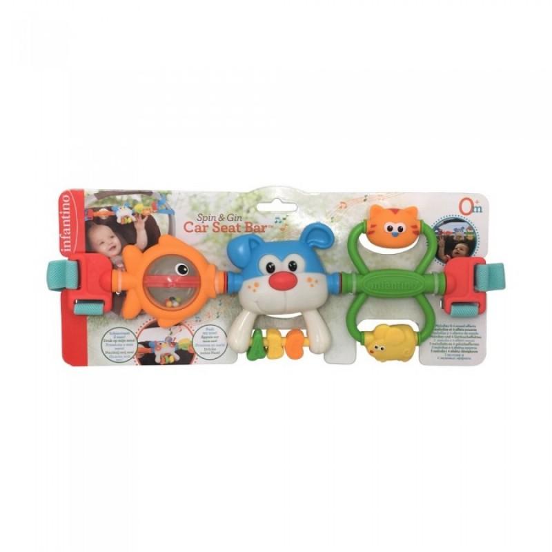 Подвесная игрушка Infantino для коляски Крути и хватай