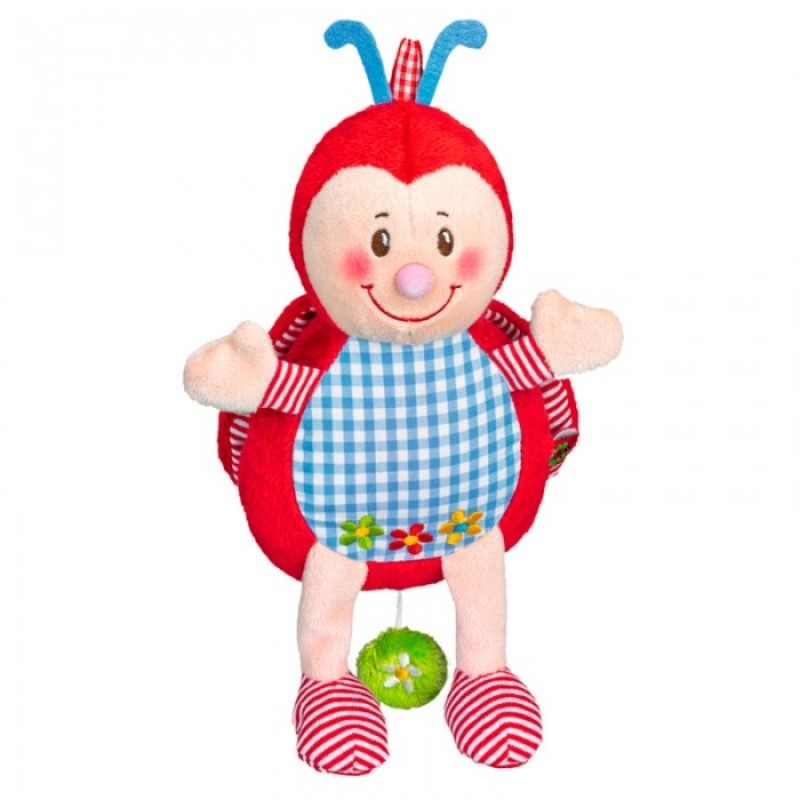 Мягкая игрушка Spiegelburg Музыкальная божья коровка Baby Gluck 21 см