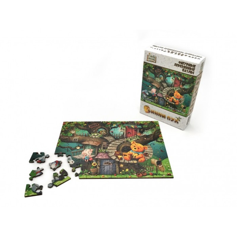 Нескучные Игры Деревянный пазл Страна Сказок Винни Пух