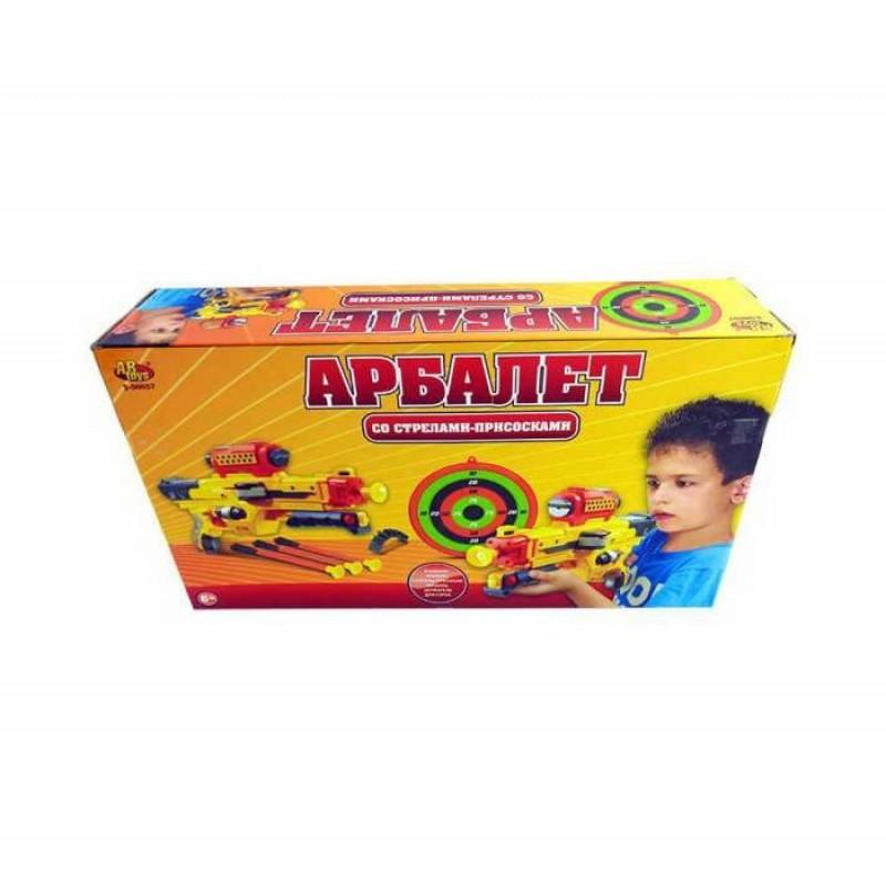 ABtoys Арбалет со стрелами на присосках S-00057