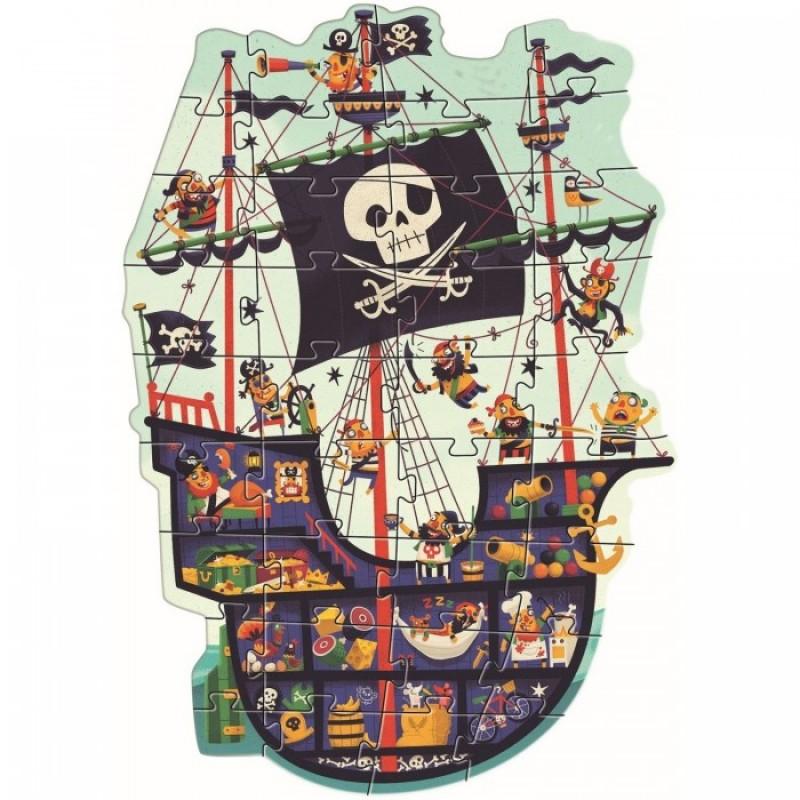 Djeco Пазл гигант Пиратский корабль 36 деталей