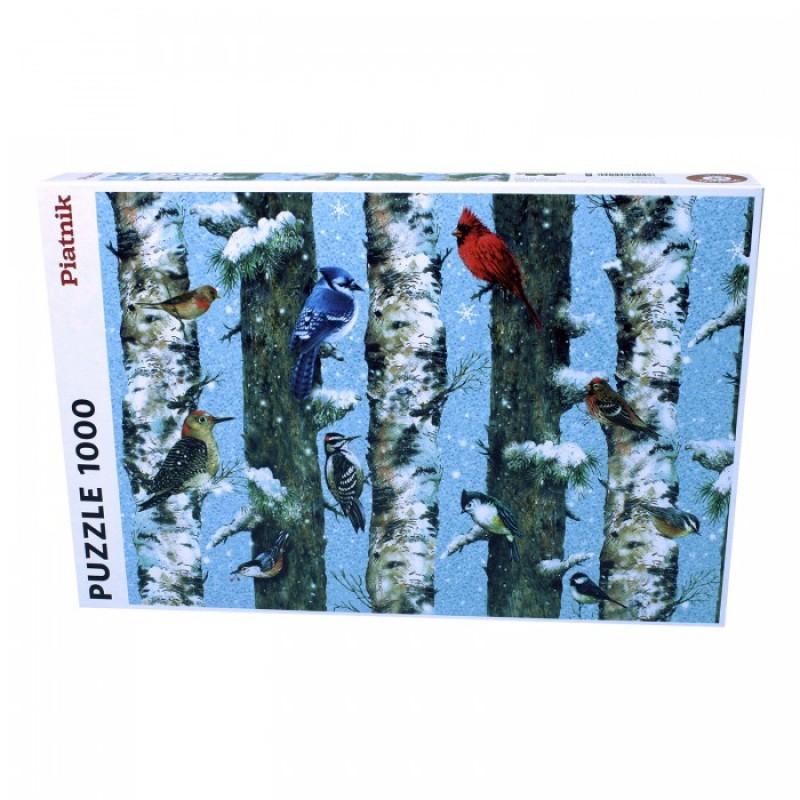 Piatnik  Пазл Рождественские птицы (1000 деталей)
