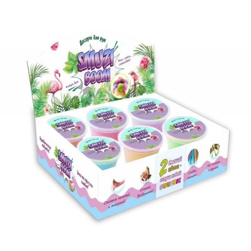 Развивающая игрушка Smuzi Boom Шоу-бокс Слайм 6 цветов 150 г