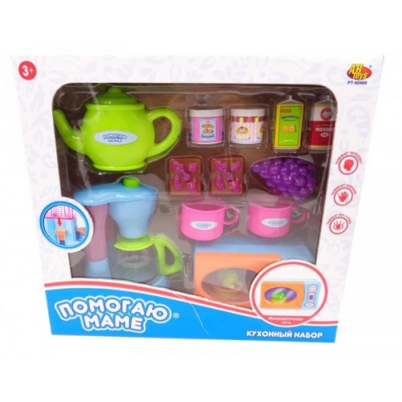 ABtoys Помогаю маме Кухонная техника с продуктами (14 предметов)