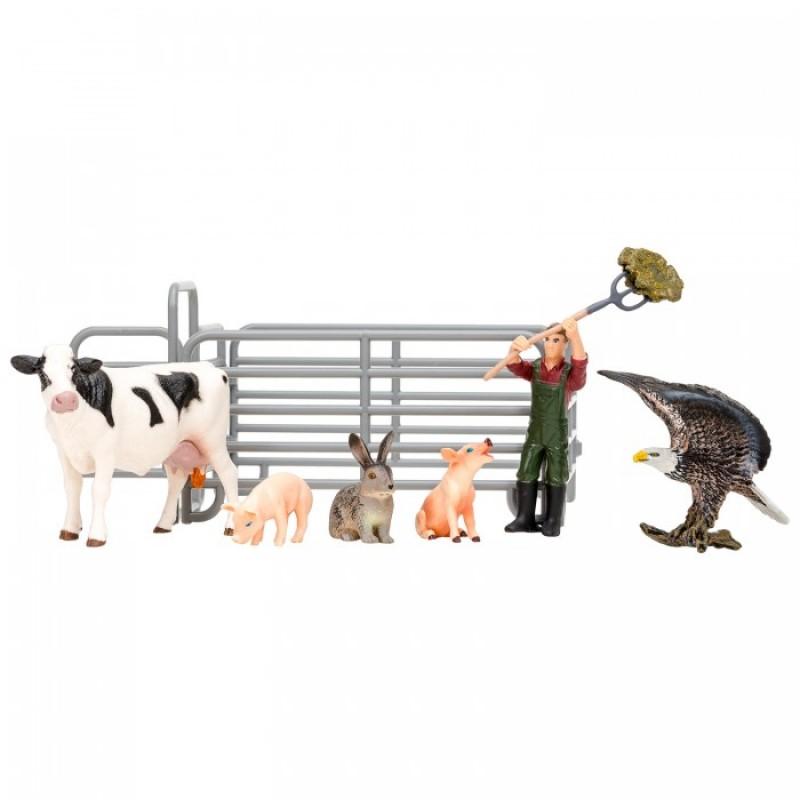 Masai Mara Игрушки фигурки На ферме (8 предметов) ММ205-011