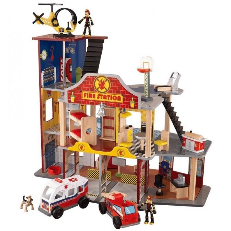 KidKraft Набор Пожарно-Спасательная станция Делюкс
