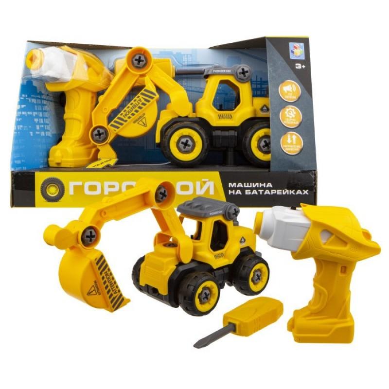 Конструктор 1 Toy Машинка Горстрой экскаватор с двигателем