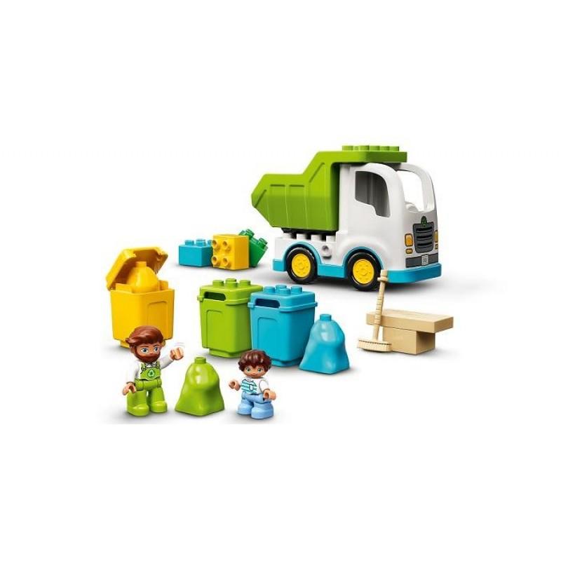 Конструктор Lego Duplo Мусоровоз и контейнеры для раздельного сбора мусора