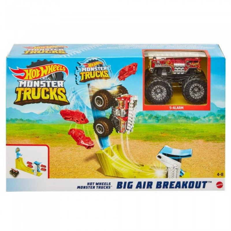 Hot Wheels Трюковой набор Воздушный поединок Монстр трак