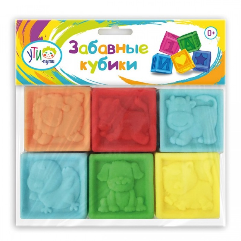 Развивающая игрушка Ути Пути Кубики цветные (6 элементов) 62280