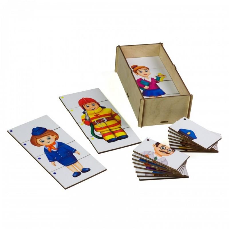 Деревянная игрушка Paremo Игровой набор Составные картинки Профессии 1