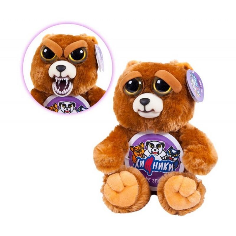 Мягкая игрушка ABtoys Медведь бурый Хищники 20 см