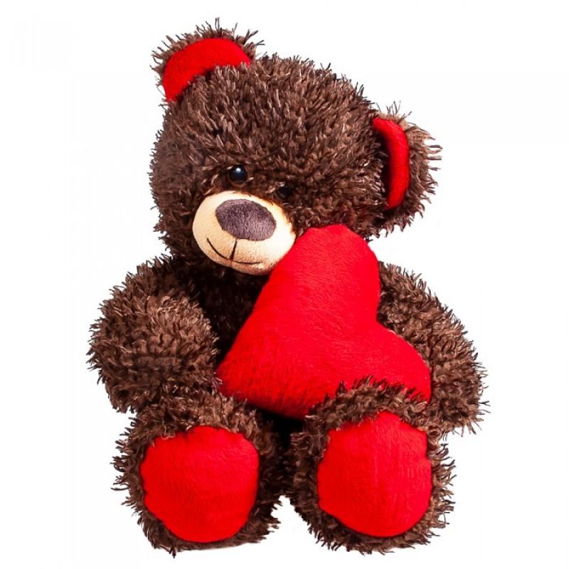 Мягкая игрушка Fancy Медвежонок Чиба с сердцем