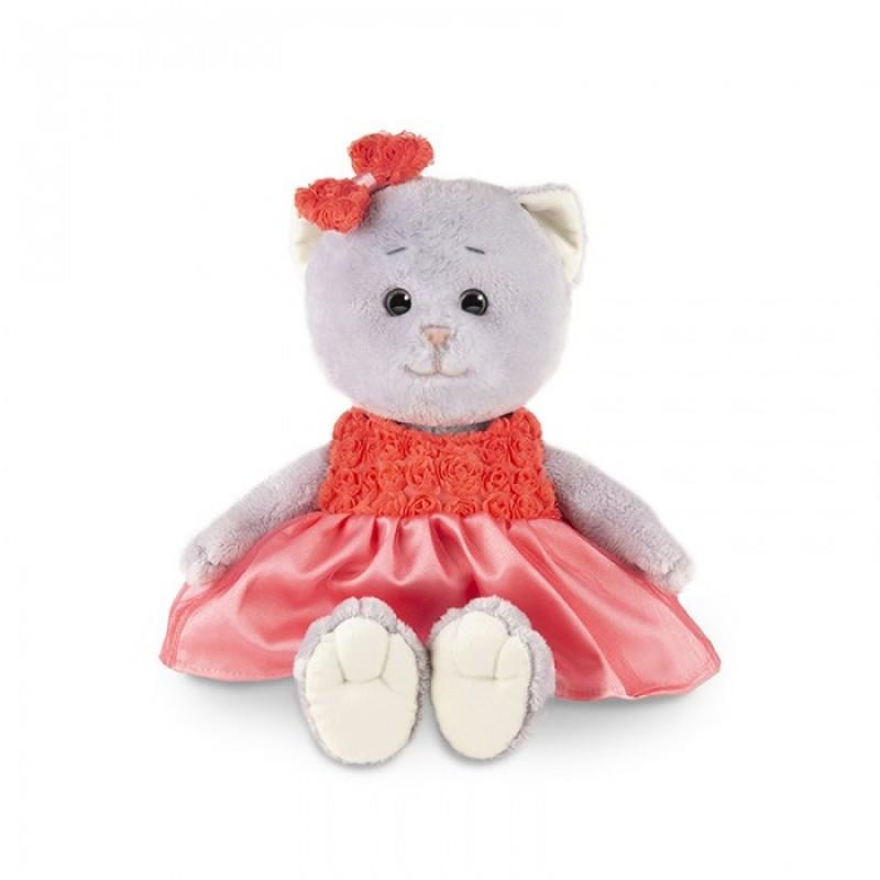 Мягкая игрушка Колбаскин&Мышель Мышель в красном платье в коробке 20 см