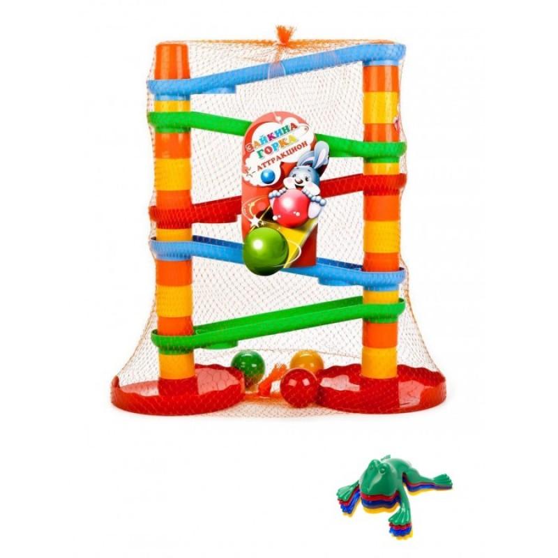 Развивающая игрушка Тебе-Игрушка Игра Зайкина горка Аттракцион №1 + Команда ква №1