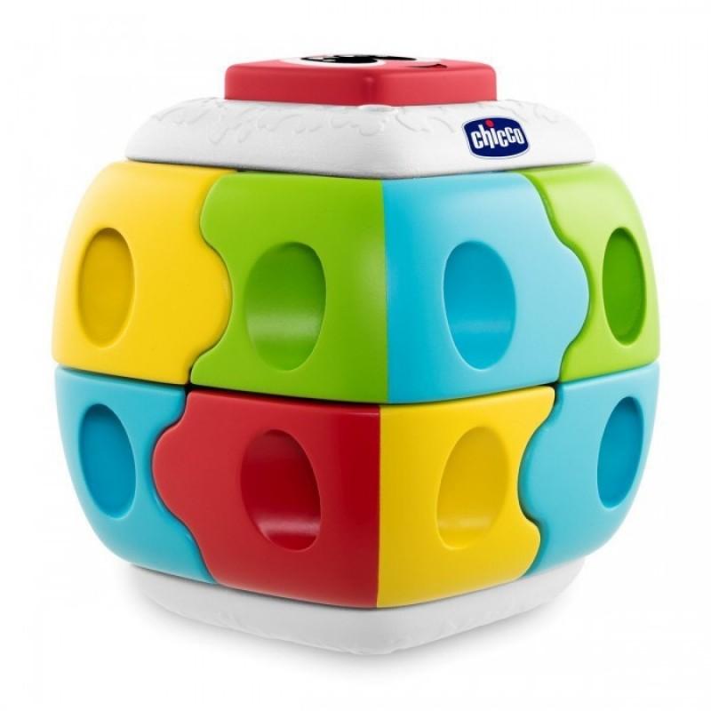 Развивающая игрушка Chicco Конструктор 2 в 1 Куб