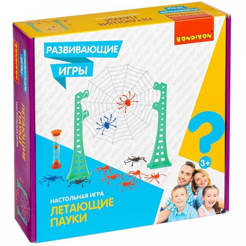 Bondibon Настольная развивающая игра Летающие пауки